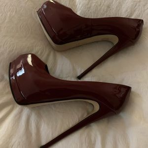 Burgundy Giuseppe zanotti heels